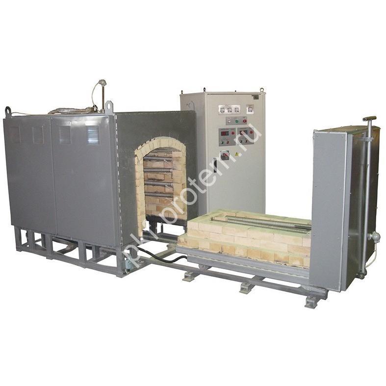 Печь камерная высокотемпературная с выкатным подом ПКВП-0,4